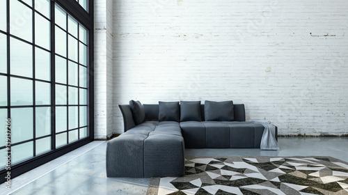 Wundervoll Minimalist Modern Loft Living Room Interior