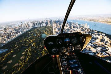 View of New York from cockpit