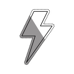 Ray electricity symbol icon vector illustration graphic design