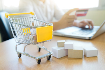 Business shopping online concept.