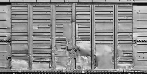 old metal warehouse door, hangar, high resolution photo