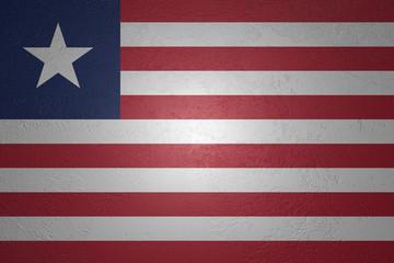 Flag of Liberia on stone background, 3d illustration