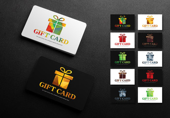 Illustrated Gift Card Layouts
