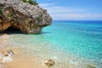 "Beautiful sea bay called ""Kato Lagadi"" in Kefalonia, Ionian islands, Greece"
