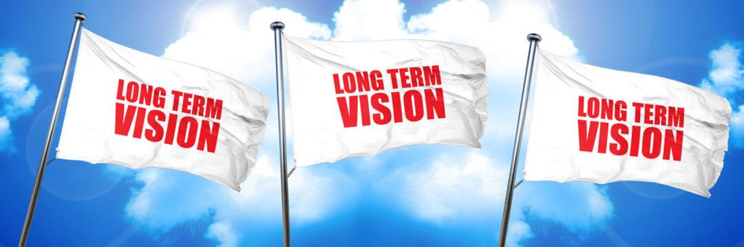 long term vision, 3D rendering, triple flags