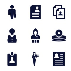 Set of 9 occupation filled icons
