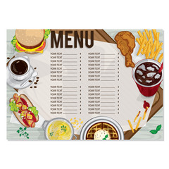 menu fast food drawing graphic design objects template
