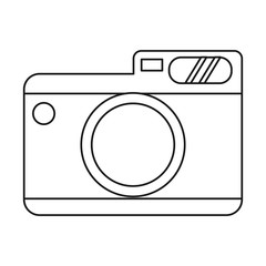 photo camera picture travel thin line vector illustration eps 10