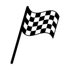 flag start racing pictogram vector illustration eps 10