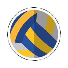 cartoon volleyball ball sport icon vector illustration eps 10