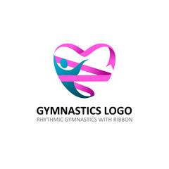 Rhythmic Gymnastic Ribbon Logo