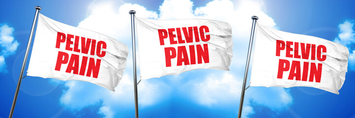 pelvic pain, 3D rendering, triple flags