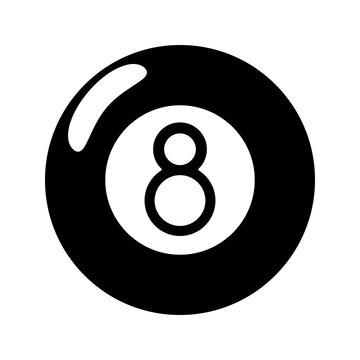 billiard ball  eight pictogram vector illustration eps 10