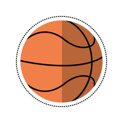 cartoon basketball ball play vector illustration eps 10