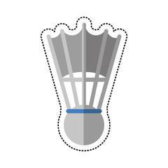 cartoon badminton shuttlecock sport vector illustration eps 10