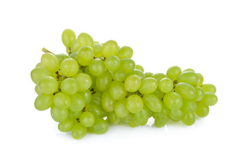 bunch of fresh green grape on white background