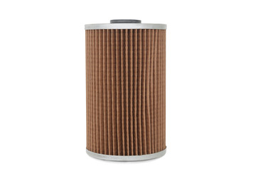 car oil filter isolated on white background ,clipping path
