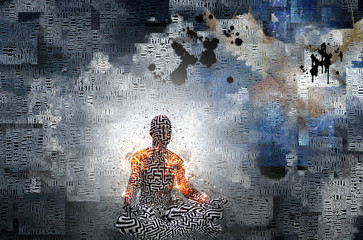 Zen   Image composed in part of words, text