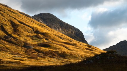 Mountain light, Glencoe, Highlands, Scotland, United Kingdom, Europe