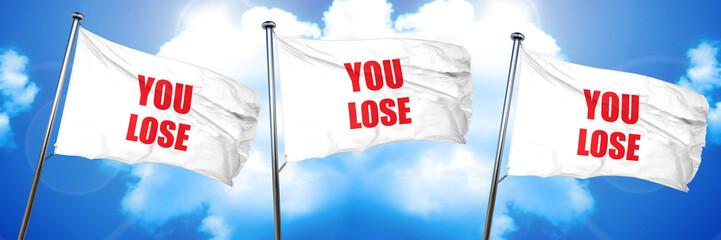 you lose, 3D rendering, triple flags
