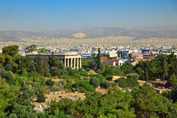 View on Athens from Acropolis