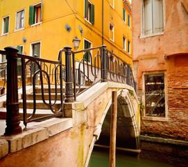 Wall Mural - Small bridge in Venice, Itali