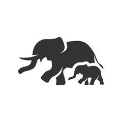 BW icon - Elephants