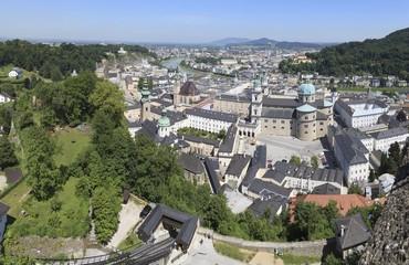 View of Salzburg from Hohensalzburg Castle, Austria