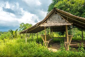 Jungle hut in the tropics