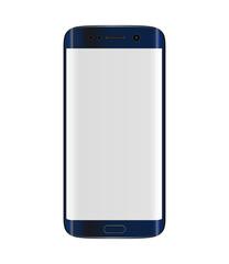 Dark blue smartphone with edge display design