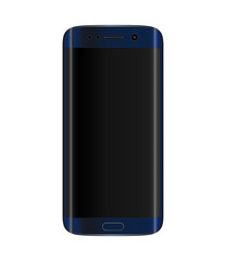 Dark blue smartphone with edge display design