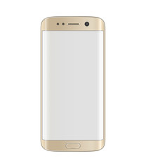 Gold platinum smartphone with edge display design