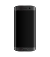 Black smartphone with edge display design
