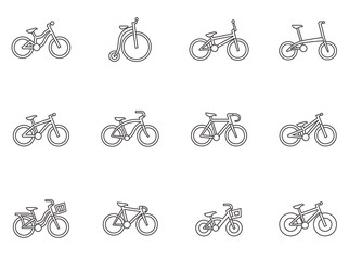 Outline Icons - Bicycles