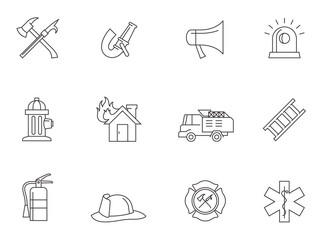 Outline Icons - Fire Fighter