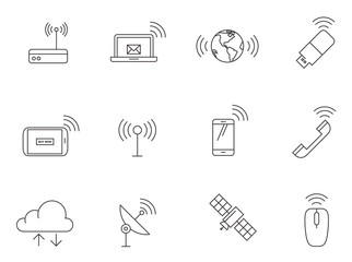 Outline Icons - Wireless