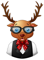Deer hipster dressed and sunglasses