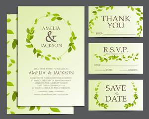 wedding invitation, vector design