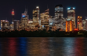 Sydney City Skyline by Night