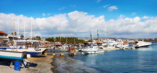 Port in Pathos on Cyprus