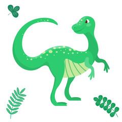 Cartoon dinosaur vector illustration seamless patern monster animal dino prehistoric character reptile predator jurassic comic fantasy dragon
