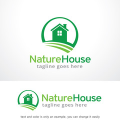 Nature House Logo Template Design Vector