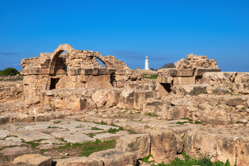 Fototapete - Paphos archaeological park at Kato Pafos in Cyprus