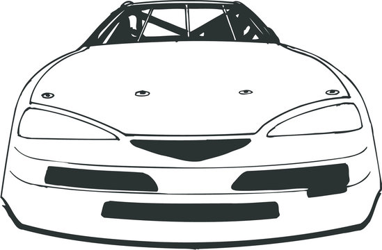 Front Facing Stock Race Car