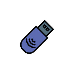 Flashcard USB Icon Vector Illustration