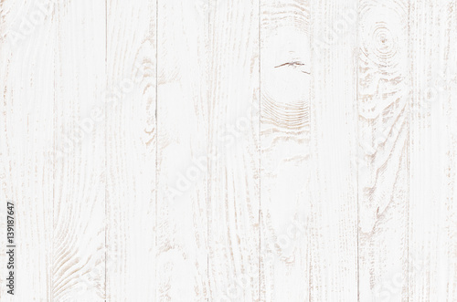 good white wood table top view
