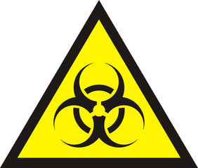 Biohazard symbol sign of biological threat alert