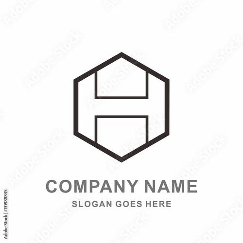 Monogram letter h geometric hexagon cube interior architecture monogram letter h geometric hexagon cube interior architecture construction business company stock vector logo design template pronofoot35fo Gallery