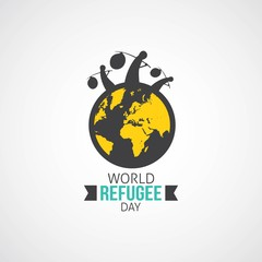 World Refugee Day Vector Illustration. Suitable for Greeting Card, Poster and Banner