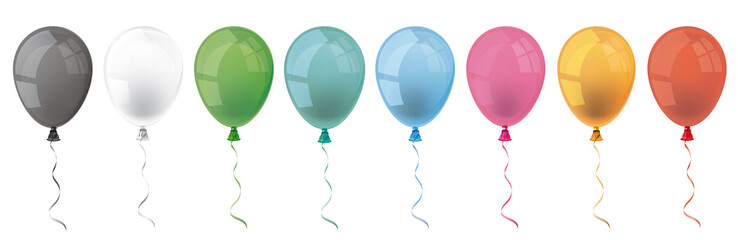 Colored Balloons Header